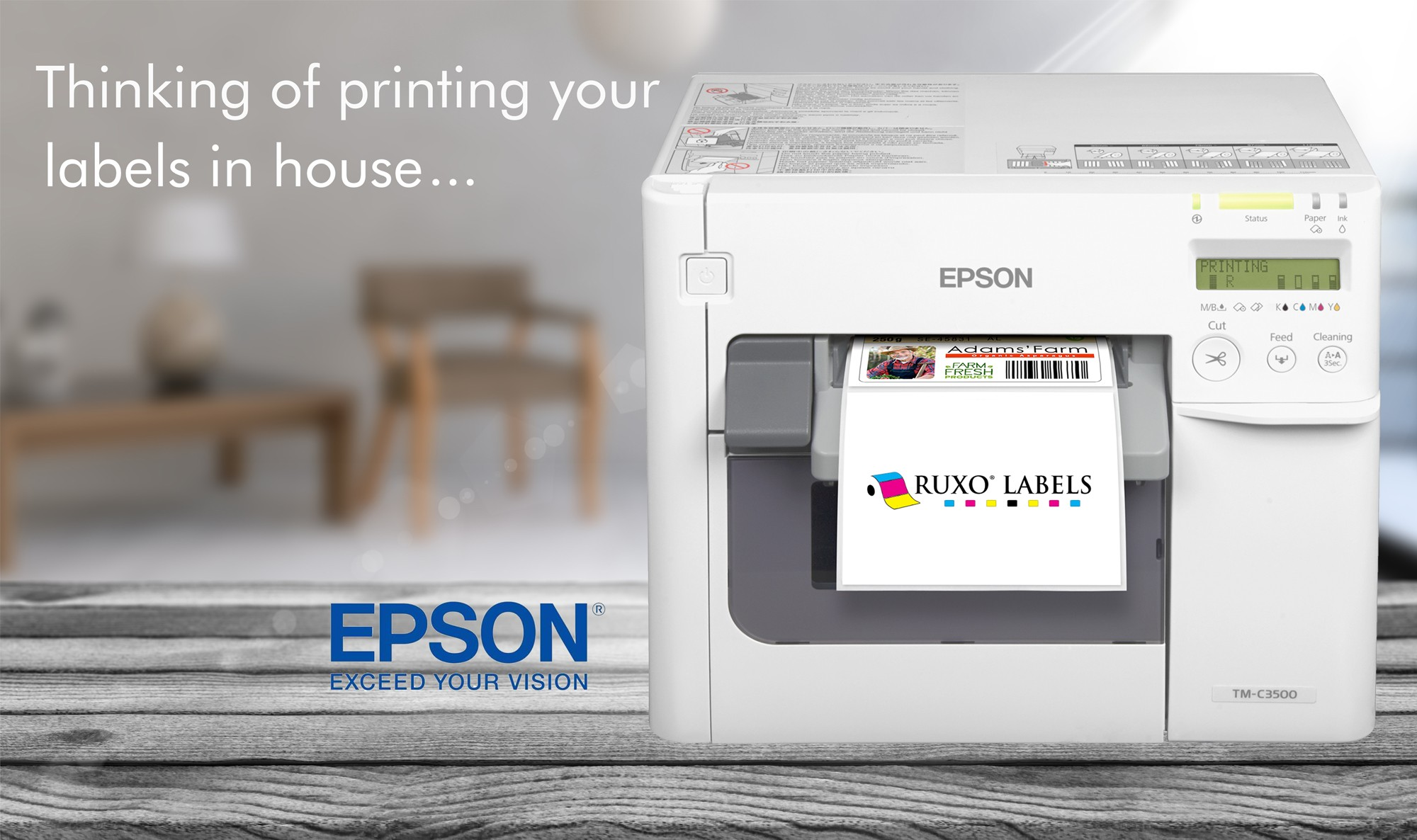 Epson C3500 Colour Label Printer